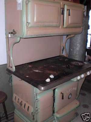 Antique Wood Coal Gas 4x4 Dickson Stove 1920s 30s