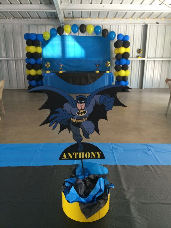 PRINTABLE Batman Party Centerpiece by PartiesByTristan on Etsy, $4.00