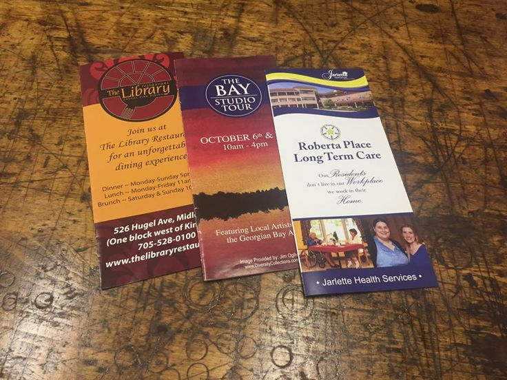 Brochures are always a nice marketing tool!
