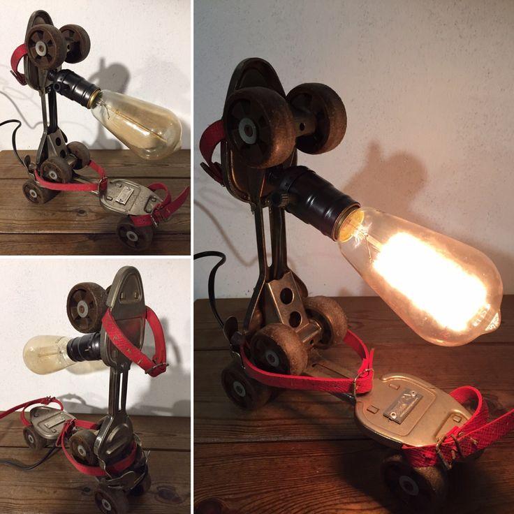 Les patins a roulettes des années 1980 par lampesoriginales .com : Luminaires par lampesoriginales