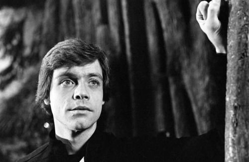 "Mark Hamill in ""Return of the Jedi"". What a beautiful picture! :)"