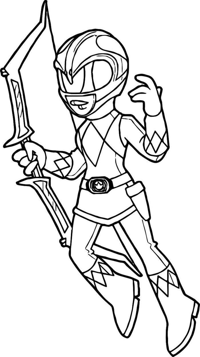Pink Power Rangers Coloring Pages   Power rangers coloring pages ...