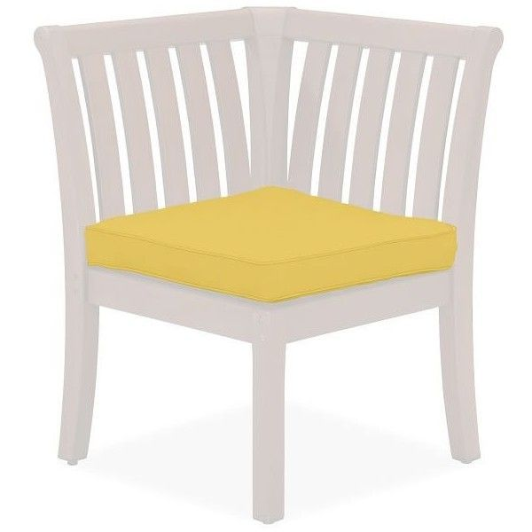Pottery Barn Universal Corner Banquette Cushion ($99) ❤ liked on Polyvore featuring home, outdoors, patio furniture, yellow, outdoor furniture, pottery barn outdoor furniture, outside patio furniture, outdoor garden furniture and pottery barn patio furniture #outdoorgardening