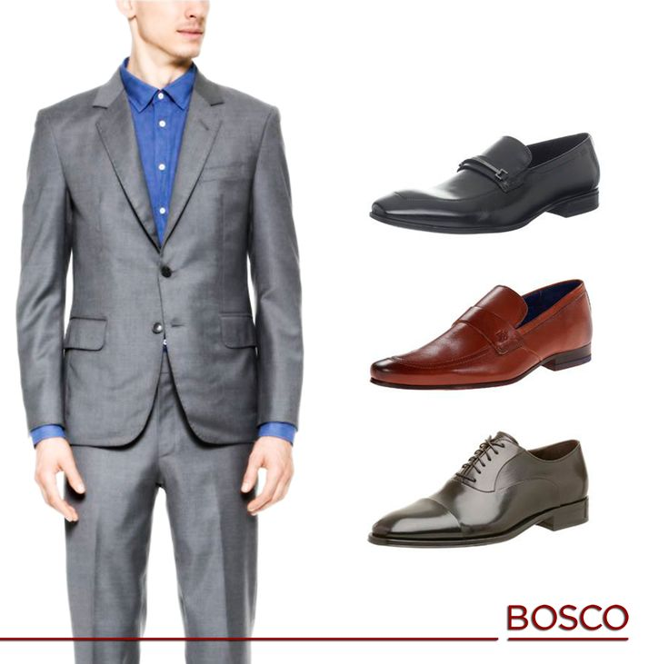 Si usas un traje gris opta por zapatos negros y marrones, si lo usas con una camisa blanca y corbata, elije un zapato negro clásico. ¡no tengas miedo de experimentar con diferentes combinaciones!  #Moda #Bosco #Puebla #Caballeros