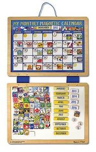 MELISSA AND DOUG WOODEN MY MONTHLY MAGNETIC CALENDAR