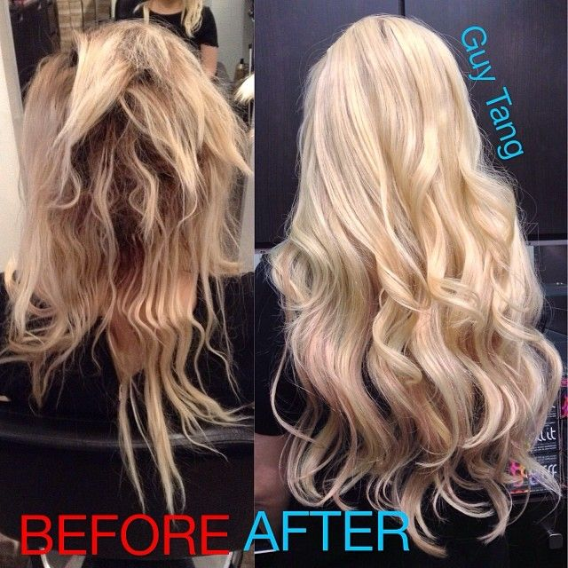 From Hot Mess To Hair I Fixed Her Fried And Added Extensions Bellami Balayage Ombre Collection