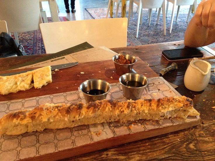 Bread and cappuccino at Vovotelo