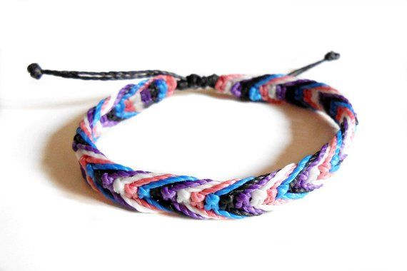 Macrame Bracelet Nonbinary Bracelet Pride Bracelet String Bracelet Nonbinary Nonbinary Pride Bracelet Minimalist Bracelet