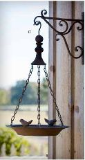 """outdoor or indoor this bird feeder will be a great decor piece for your home! Be creative and use as a planter! Bracket included bird feeder size: 12"""" x 24"""" bracket size: 10.5"""" x 11'"""