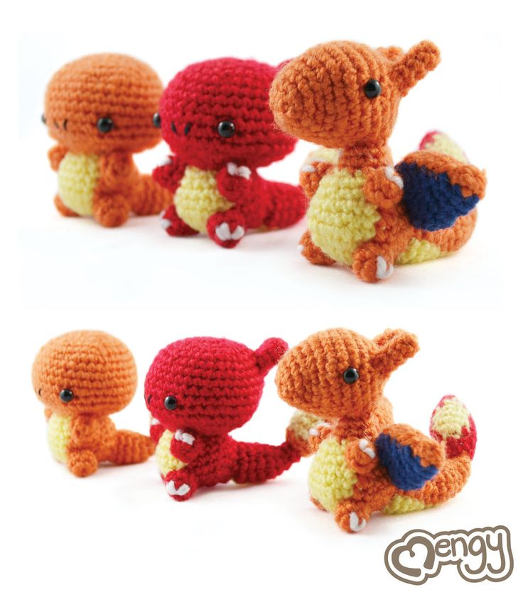Crochet Amigurumi Made Easy Magazine : Showing the evolution of Charmander to Charizard in yarn ...