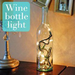 So clever!: Bottle Crafts, Bottle Light Very, Diy Wine, Bottle Lights, Diy Lights, Bottle Light Nevy, Wine Bottles, Bottle Light So