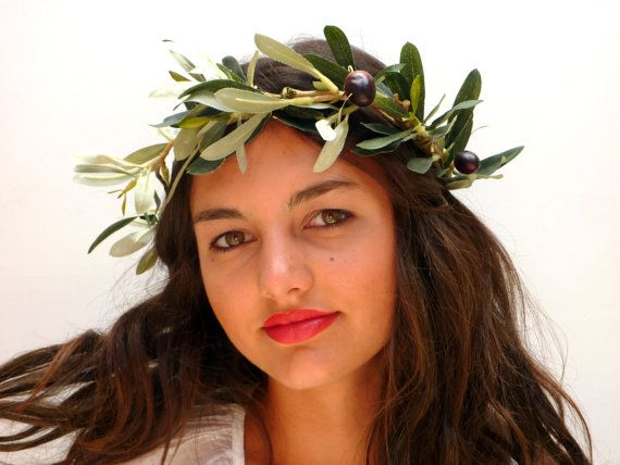 Olive leaf crown Woodland headpiece by BlackSwanFeather on Etsy
