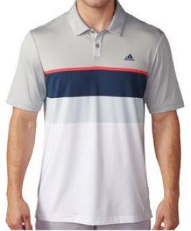 Polo de golf Adidas Climacool Engineered Striped . Tecnología ClimaCool™ te mantiene fresco gracias a su tejido similar a la malla con puntos de aluminio y acero que expulsan el sudor de tu cuerpo