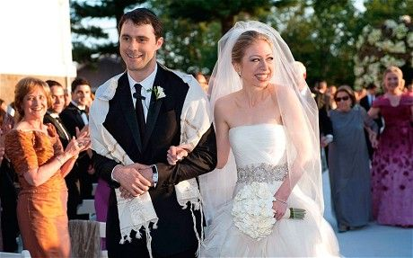 Chelsea Clinton at her 2010 wedding to Marc Mezvinsky