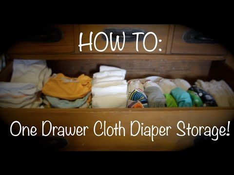 HOW TO: Small Space Cloth Diaper Storage and Organization - 3 Day Stash in Just one drawer!