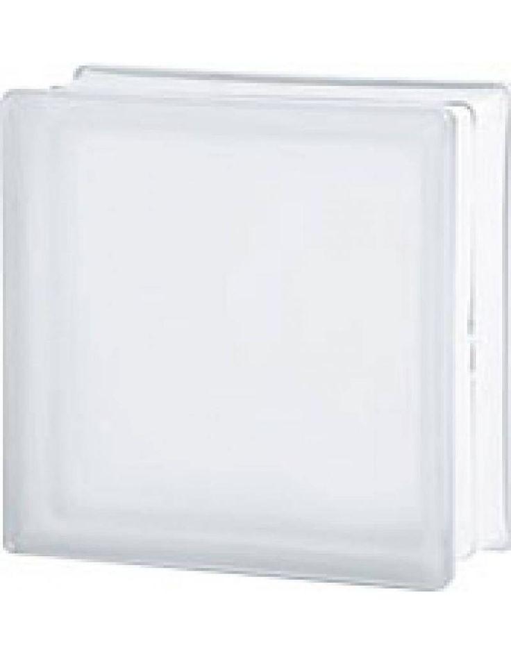 Seves 190x190x80 Helder 1zijde Sahara - Glazen bouwstenen | Glasblokken | Glasdallen | Glastegels