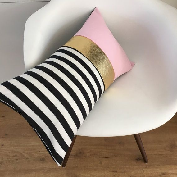 Decorative Pillow Cover, Black & White Stripe Pillow,Pretty Black ...