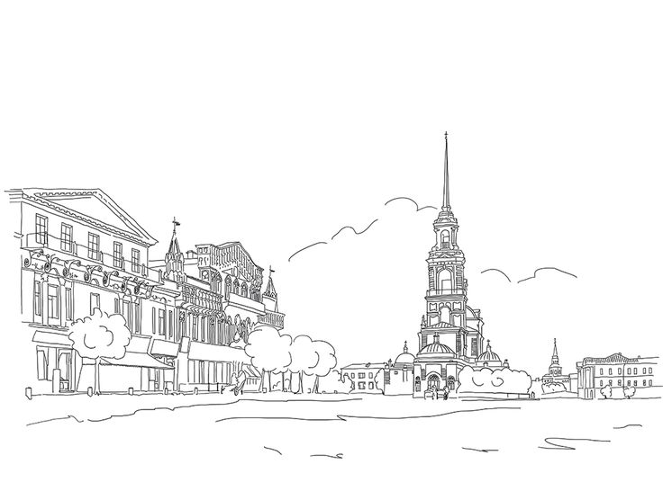 sketch, illustration, artwork, Yekaterinburg, calendar