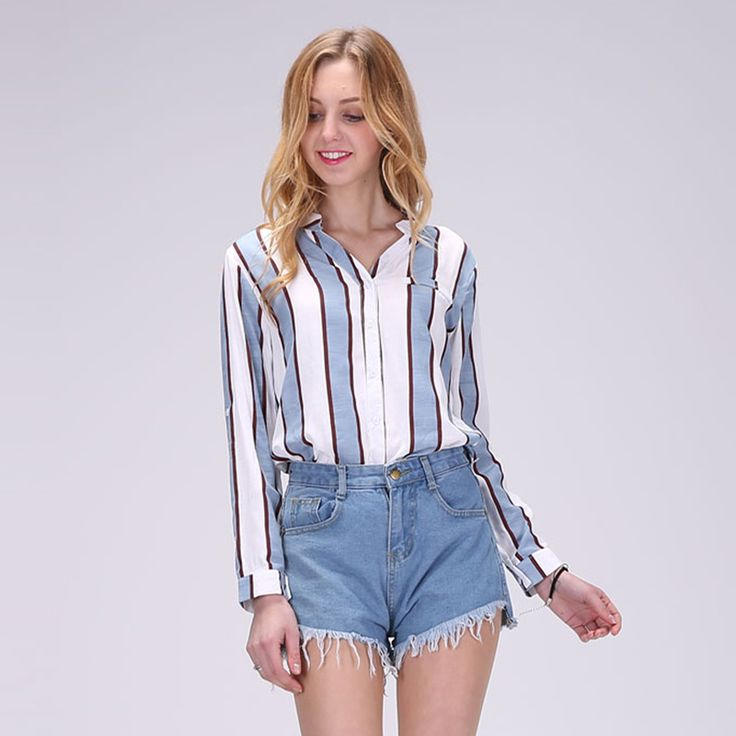 2017 Hot New Women Full Sleeve Blouses Striped Shirts Women Summer Tops Flare Sleeve Blouse Chemise Femme One Size