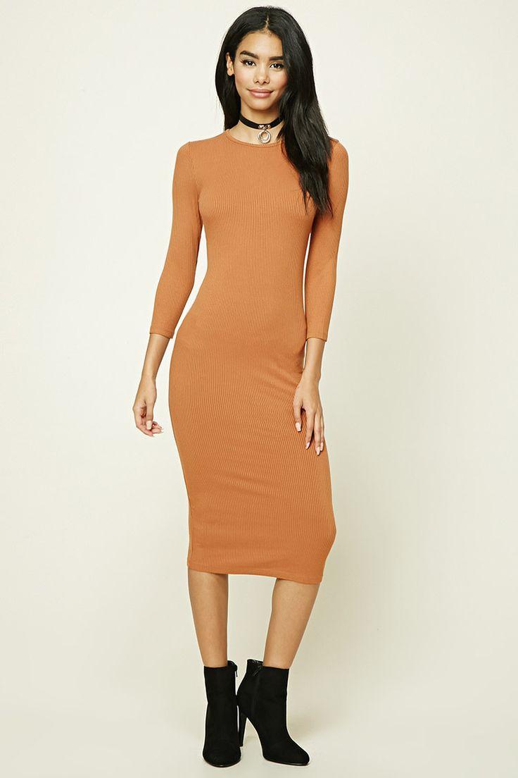 Longline Ribbed Knit Dress