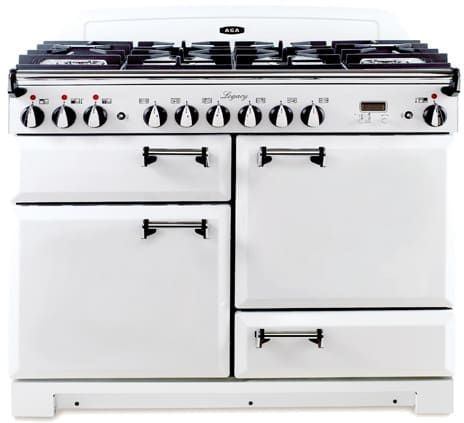 AGA ALEBS44DFVWT 43 Inch Pro-Style Dual Fuel Range with Convection, Glide-Out Broiler, Multifunction Oven, 5.1 cu. ft. Total Capacity, 6 Sealed Gas Burners, HandyRank Shelf, Minute Minder and Storage Drawer: Vintage White