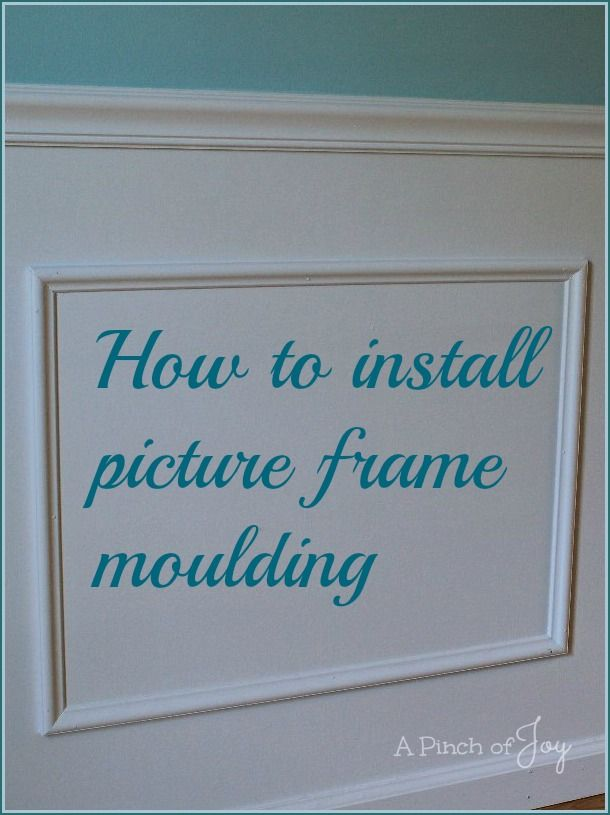18 best Picture Frame Moulding images on Pinterest | Wall molding ...