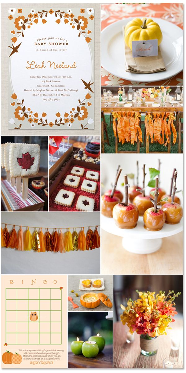 festive fall baby shower great party ideas for any fall party