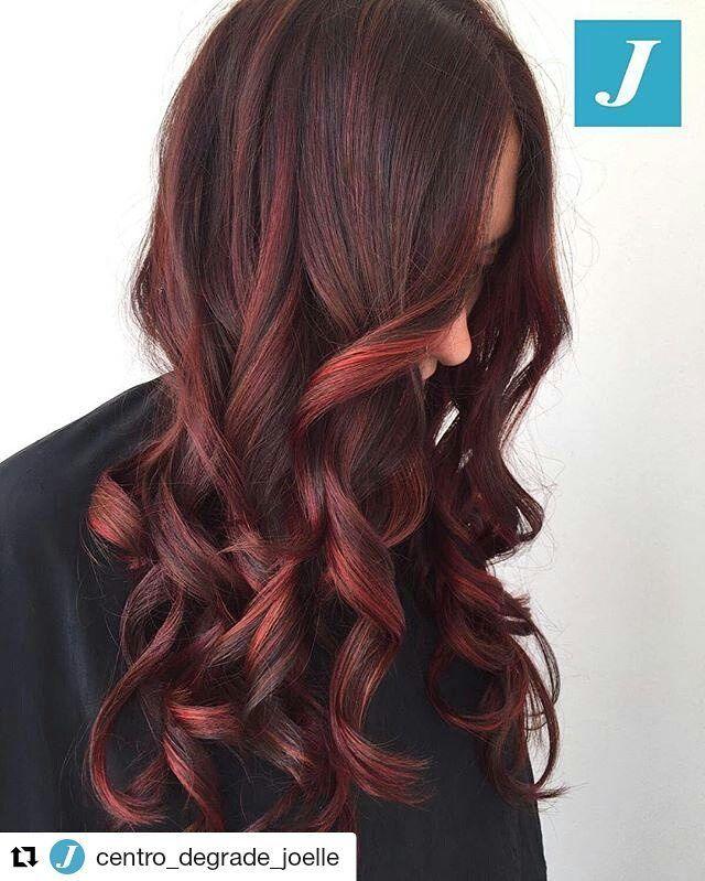 #Repost @centro_degrade_joelle with @repostapp ・・・ Cherry _ Degradé Joelle #cdj #degradejoelle #tagliopuntearia #degradé #igers #musthave #hair #hairstyle #haircolour #longhair #ootd #hairfashion #madeinitaly #wellastudionyc
