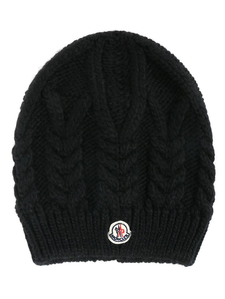 Купить Moncler черная шапка из смешанной шерсти крупной вязки (327463), цена на шапку в интернет-магазине Bosco.ru – 13 450 руб.