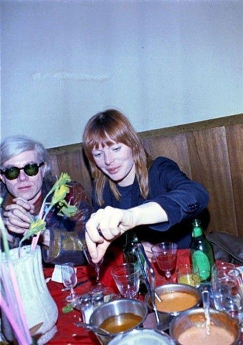 Andy Warhol and Nico.