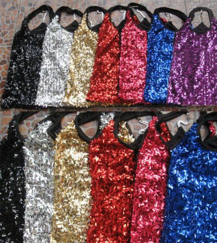 Sexy-Sleeveless-Vest-DS-Sequin-Stage-Dress-Evening-Dance-Wear-Women-New-Stylish