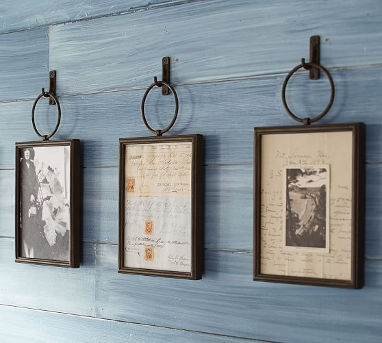 Weston Frame | Pottery Barn- idea for my entryway wall - Not DIY but I could totally figure out a way to create a knock off version.