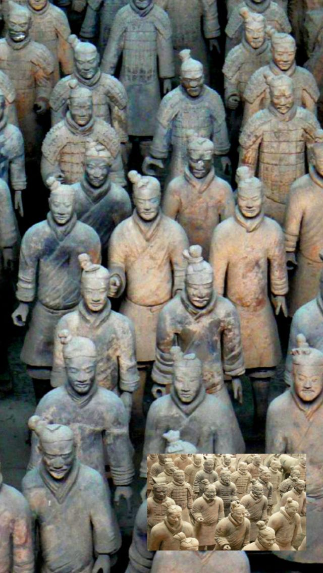 Terra Cotta Army:  While it may not be intense in the same way as the last few discoveries, this terra cotta army that was buried with Qin Shi Huang, the first emperor of China, is certainly intense in its' own right. Apparently, the intention was for the soldiers to protect the emperor in the afterlife.