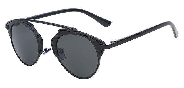 Vintage Metal Female Cateyes Eyewear Gafas Luxury Women Designer Retro Men Sunglasses