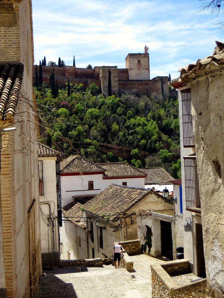 vedute sull'Alhambra dall'Albaicin Granada Spain