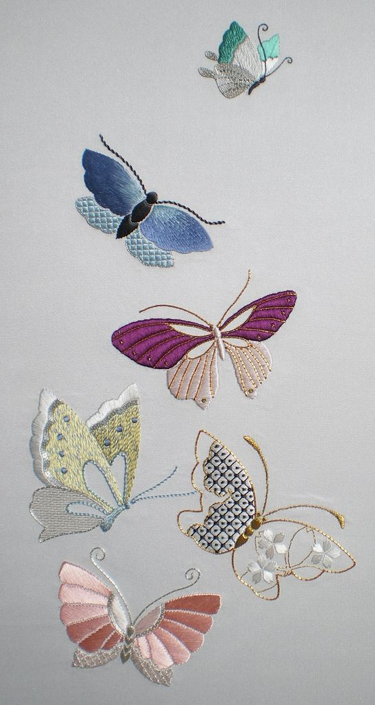 Flutterbys | by coral-seas, Design, © Jennifer Ashley Taylor - Japanese Embroidery