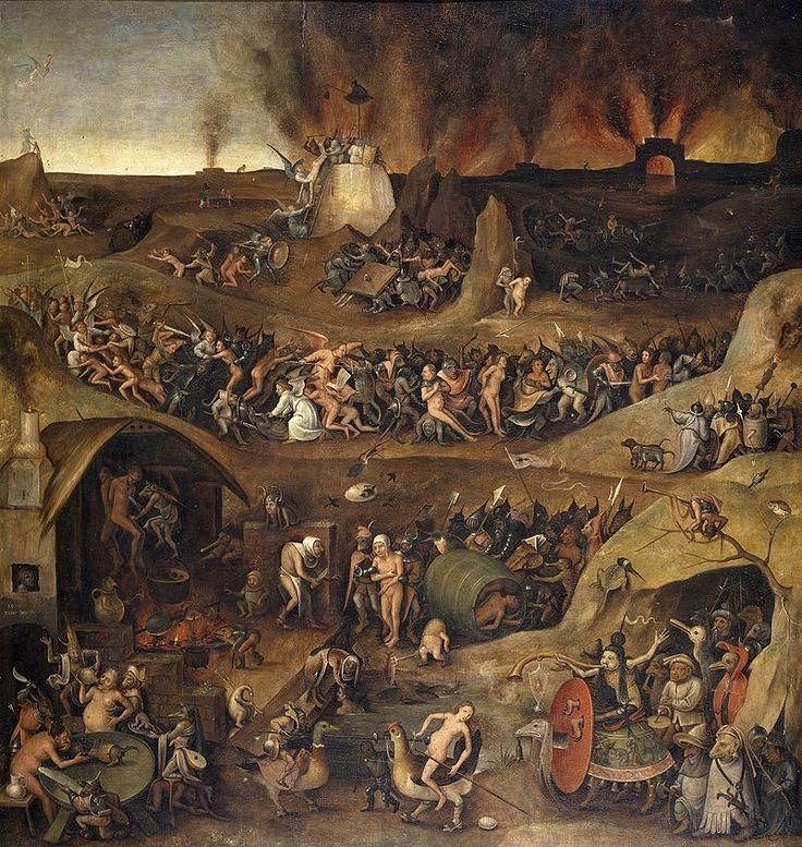 несколько ад на картинах известных художников манил