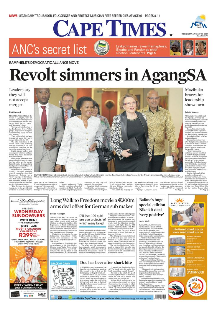 News making headlines: Revolt simmers in #AgangSA