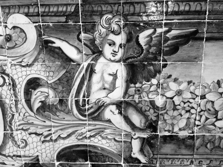 """Detalle azulejo """"Sala dos Brasões"""", Palàcio Nacional de Sintra. Portugal"""