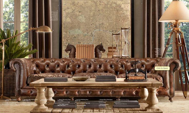 dark Chesterfield couch