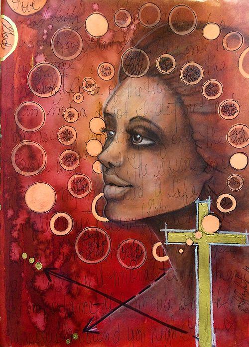 """Faith"" Mixed media on bristol by Jamie Dougherty Designs #ElementEdenArtSearch"