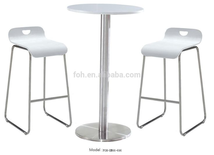 Modern White High Bar Stools And Table Pub Chair View Foh Product Details From Guangzhou Mega Import Export Co Ltd On Alibaba