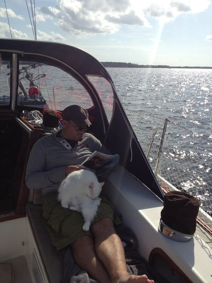 Just sailing, reading a magazine, and, you know, grooming.