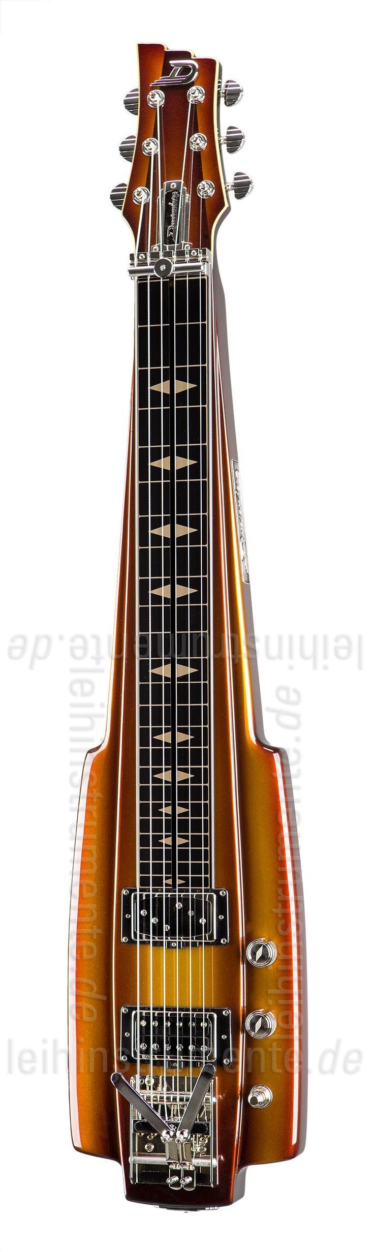 E-Gitarre DUESENBERG FAIRYTALE LAPSTEEL - Gold Burst (2016) + Custom Line Case. High-end Gitarre aus dem Hause DUESENBERG. 64,8cm Mensur. Die Lapsteel Fairytale besitzt einen einteiligen Mahagoni-Korpus / 64,8cm Mensur / Schwarzes Aluminium Griffbrett / Integriertes Kapodaster / 1x PH90 Single Twin / 1x Grand Vintage Humbucker. Lackierung: Gold Burst / Hochglanz. Saitenlage, Hals und Intonation werden von uns für optimale Bespielbarkeit eingestellt. Inklusive original DUESENBERG Custom Line…