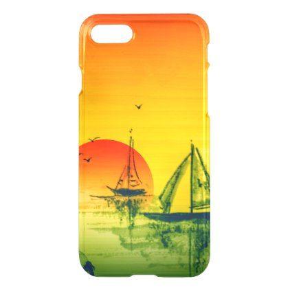 #Asian Harbor & Sunset iPhone 8/7 Case - #travel #electronics