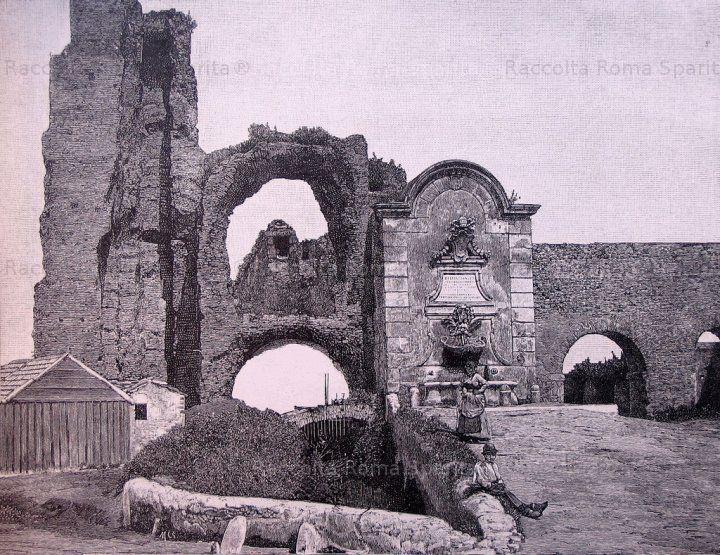 : Porta Furba, fontana di Clemente XII Anno 1856