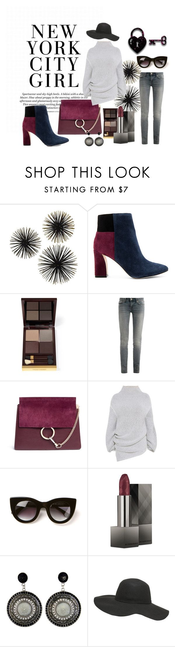 """""""Colored shoes"""" by elena88-88 ❤ liked on Polyvore featuring BCBGMAXAZRIA, Tom Ford, Marc by Marc Jacobs, Chloé, STELLA McCARTNEY, Thierry Lasry, Burberry, Dorothy Perkins, shoes and colored"""