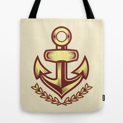 Anchor badge Tote Bag by Sharp B.A