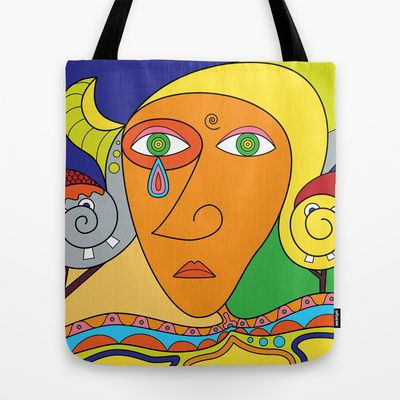Autoritratto Tote Bag by Joe Pansa - $22.00