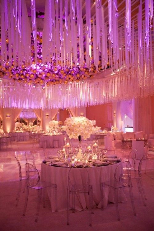 24 Inspiring Pink And Purple Hanging Wedding Decor Ideas | Weddingomania